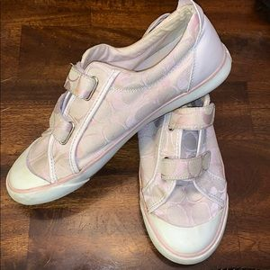 Coach Britt women's shoe Pink Velcro sneaker 8 1/2